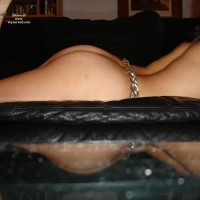 Upthrust ASS And Arched Back Profile Lying On Couch - Dark Hair, Round Ass, Sexy Ass