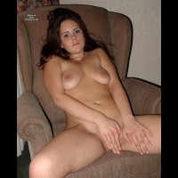 Legs Spread Open With Hand On Pussy - Brunette Hair, Dark Hair, Long Hair, Small Tits, Spread Legs, Naked Girl, Nude Amateur