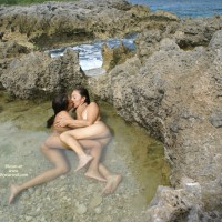 Girl On Girl In The Lagoon - Long Legs, Naked Girl, Nude Amateur, Sexy Legs