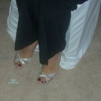 The Feet And High Heels Of Lovely Wife