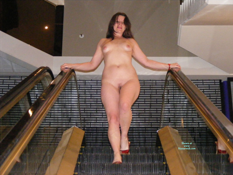 "Full Frontal Nude Descending Escalator - Hairy Bush, Heels, Natural Tits, Small Tits, Naked Girl, Nude Amateur , Nude In A Mall, Shopping Naked, Small, Escalator Nude, Nude ""escalate-her"", Nude In High Heels On An Escalator, Wearing Nothing But Shoes, Mall Nude"