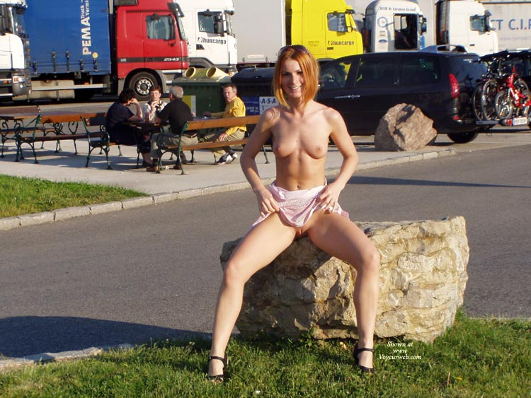 Exhibitionist At A Parking Lot - Blonde Hair, Exhibitionist, Flashing, Nude In Public, Nude Outdoors, Pale Skin, Shaved Pussy, Naked Girl, Nude Amateur , Slender Figure, Pale Skin, Flashing At The Truckstop, Medium Strawberry Blonde Hair, Outdoor Tits And Pussy, Fitted Petit Body, Small Perky Breats, Sitting On Rock, Shaved Pubis, Delicious Legs