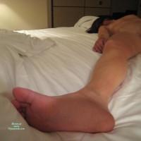 Sexy Foot - Black Hair, Brunette Hair, Spread Legs, Naked Girl, Nude Amateur