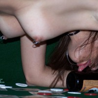 Strip Poker Loser - Brown Eyes, Pierced Nipples