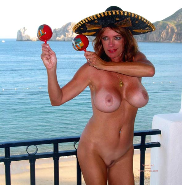 Pic #1 - Trimmed Pussy With Big Tits - Tan Lines, Beach Voyeur , Trimmed Pussy With Big Tits, Huge Tits Mexico Beach, Full Nudity, Tanlines, Tan Lined Tits