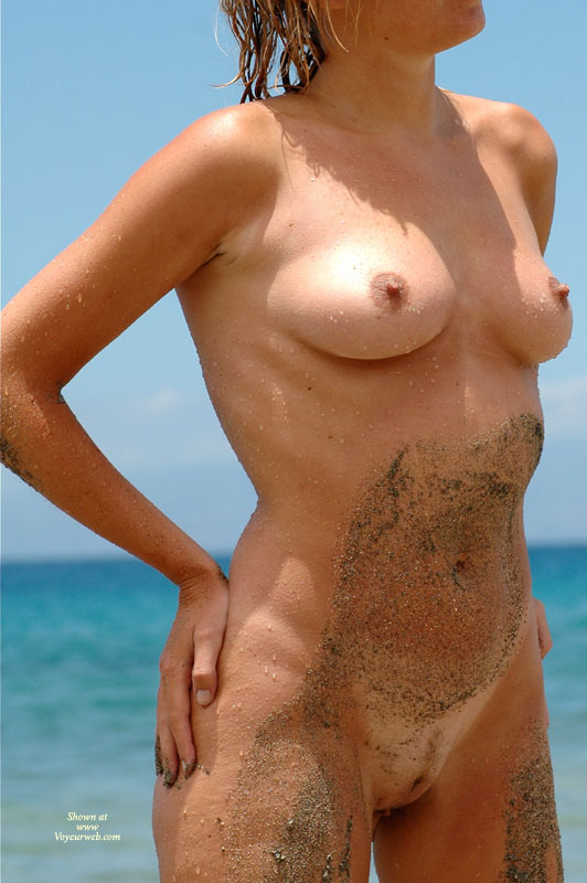 Pic #1 - Sand On Skin - Blonde Hair, Erect Nipples, Landing Strip, Natural Tits, Perfect Tits, Naked Girl, Nude Amateur , Little Areolas, Wet Nipples, Hands On Hips, Sandy Body, Full Frontal Nude Standing On Beach, Sandy And Wet, Medium Sized