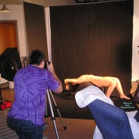 Josephine: nude recline being photographed  in studio