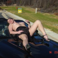 Hood Ornament - Heels, Small Tits, Topless