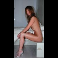 Nude Girl Sitting - Brunette Hair, Long Hair, Long Legs, Naked Girl, Nude Amateur, Sexy Legs