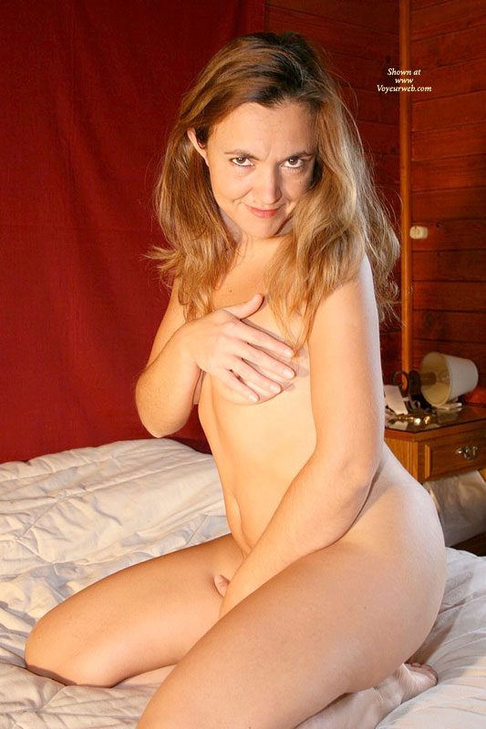 Pic #1 - Nude Milf Sitting On Bed - Brown Eyes, Brown Hair, Long Hair, Milf, Small Breasts, Naked Girl, Nude Amateur , Looking Directly To Camera, Shy And Sexy, Belly Exposed, Kneeling On Bed, Bad Girl On Bed, Teasing Nipple, Naked In Bed, Sitting Naked On A Bed In A Cabin, Brown Eyes