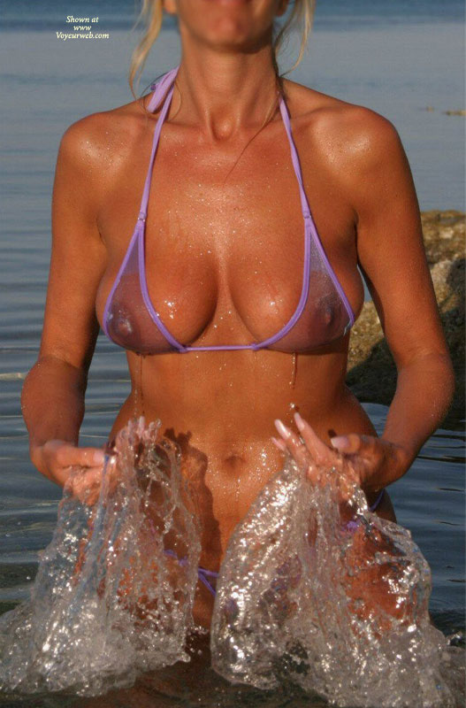 Pic #1 - Becca's In Purple , One Of My Favourite Bikini's As Its See Through And A Lovely Colour Too !
