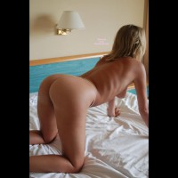 Doggystyle View On Bed - Blonde Hair, Doggy Style, Round Ass