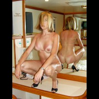 Naked On Cruise Ship - Black Hair, Blonde Hair, Heels, Milf, Tan Lines, Naked Girl, Nude Amateur
