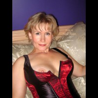 Mature - Corset, Mature, Red Lips, Top