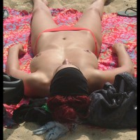 Beach Voyeur - Large Breasts, Perky Nipples, Topless, Beach Voyeur