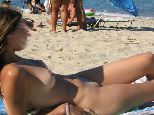 Pic #2 - Beautiful GF Marie at The Naturist Beach in The South of France (no horses this time!!!)