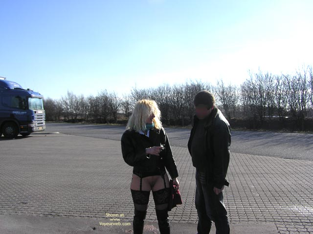 Pic #10 - Jaol Speaking With A Trucker