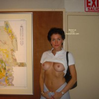 Exhibitionist - Exhibitionist, Flashing Tits, Long Nipples, Short Hair
