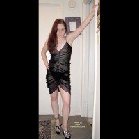 Angel In A Sheer Black Dress