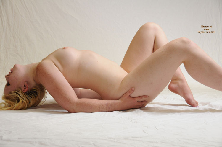 Pic #1 - Nude Girl Arched Back On White - Blonde Hair, Natural Tits, Pale Skin, Small Tits, Spread Legs, Naked Girl, Nude Amateur , Pale Skin, Small, Full Nudity, Small Pink Nipples