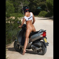 Bareass On Bike - Blonde Hair, Naked Girl, Nude Amateur
