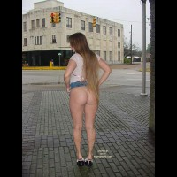Flashing Ass In Public - Long Hair