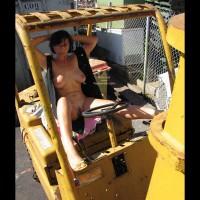 On Heavy Equipment Nude Open Vest - Nude Outdoors