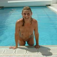 Angie Around The Pool