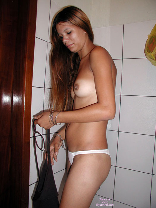 Pic #1 - Nude At The Bathroom , Marina Is A Good Friend And I Share My Boyfriend With Her Sometimes.