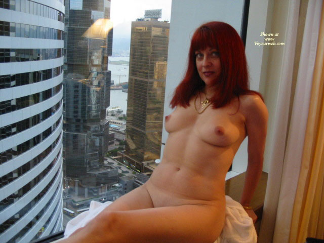 Pic #1 - Naked At The Window - Milf, Perky Tits, Naked Girl, Nude Amateur , Sitting In A Window, Nude In High Rise Window, Sexy Milf Body, City Scapes, Curvy Feminine Hips, Nude Woman Skyline View, Sitting On A Ledge, Redhead