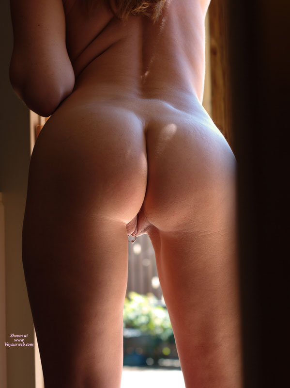 Shaved Pussy From Behind