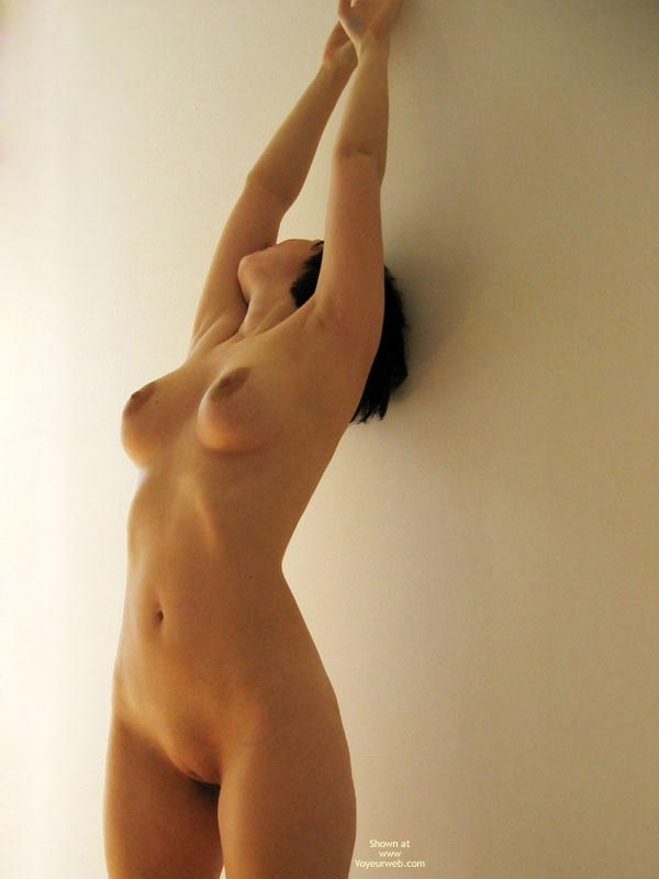 Pic #1 - Short Dark Hair - Indoors, Shaved Pussy , Short Dark Hair, Nude Stretching Indoors, Shaved Pussy, Naked Stretch