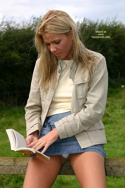 Pic #1 - Blonde - Blonde Hair, Nude Outdoors, Upskirt , Blonde, Upskirt, Upskirt Thong, Blond Upskirt, Outdoors, Secret Discovered