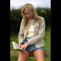 Blonde - Blonde Hair, Nude Outdoors, Upskirt