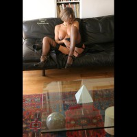 Black Stockings - Heels, Mature, Short Hair, Stockings