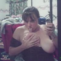 Licking Tits Self Shot - Big Tits, Huge Tits, Large Aerolas, Self Shot, Looking At The Camera