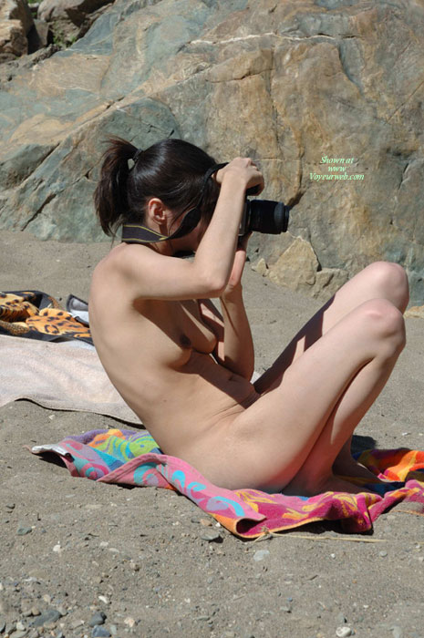 Pic #1 - Nude Photographer - Dark Hair, Pale Skin, Small Breasts, Beach Voyeur, Naked Girl, Nude Amateur , Pale Skin, Naked On The Beach, Nude Beach Voyeur, Little Tities, Naked Picture Taking, Naturist Beach Photographer, Very Skinny Legs
