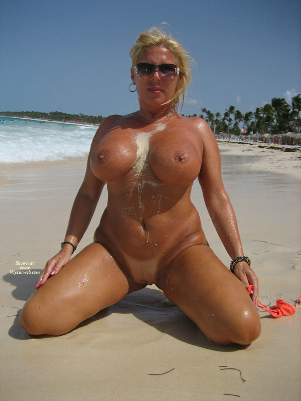 Pic #1 - Full Frontal Kneeling - Big Tits, Blonde Hair, Large Breasts, Milf, Shaved Pussy, Bald Pussy, Naked Girl, Nude Amateur , Kneeling On Sandy Beach, Big Tits Blonde, Beach Nude, Large Full Breasts, Perfect Milf Body, Too Big, Looking Directly At Camera, Dark Tan