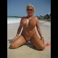 Full Frontal Kneeling - Big Tits, Blonde Hair, Large Breasts, Milf, Shaved Pussy, Bald Pussy, Naked Girl, Nude Amateur