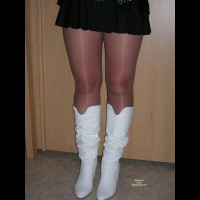 My Sexy Legs In White Boots