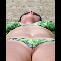 Painted Bikini Pussy View - Milf, Sunglasses, Naked Girl, Nude Amateur, Nude Wife