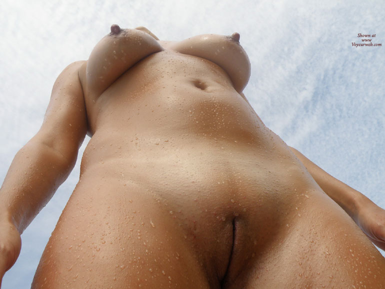 Full Front Nude - Shaved Pussy, Naked Girl, Nude Amateur , Tits And Pussy, Large Errect Nipples, Wet Pussy, Sexy Wet Body, Tanned And Wet, Nude Frontal From Below, Stripped And Dripped, Hairless Wonder, Sexy Shot