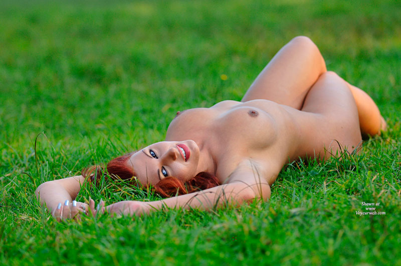 Redhead With Blue Eyes Naked On Grass With Erected Nipples - Blue Eyes, Erect Nipples, Red Hair , Laying Naked On The Grass, Silver Nail Polish, Outdoor Tits, Red Hair And Red Lipstick On Naked Girl, Lying Naked On Lawn, Artistic Outdoors, Naked Outside, Thighs Together Boobs Showing, Small Round Brown Nipples On A Redhead, Lying Naked On Grass Looking At Camera
