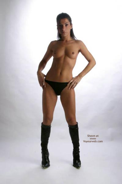 Pic #1 - Just Panties On , Just Panties On, Niples  Panties And Boots