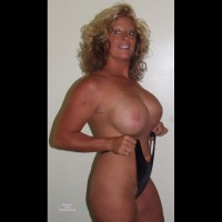 Curly Blonde Hair And Big Boobs - Blonde Hair, Blue Eyes, Small Breasts, Looking At The Camera