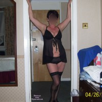 Sexy Mature Wife In Black Lingerie
