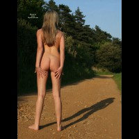 Naked On The Trail - Blonde Hair, Long Hair, Long Legs, Round Ass, Naked Girl, Nude Amateur