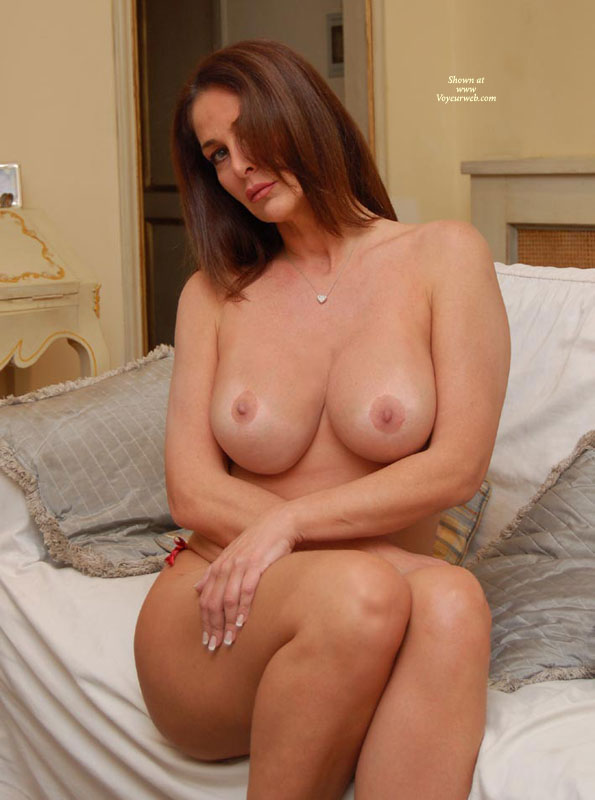 Sitting Topless On Bed - Huge Tits, Large Breasts, Red Hair, Topless, Naked Girl, Nude Amateur , Topless Seductive Sitting On Bed, Frontal Nude, Arms Crossed, Curvy Feminine Hips And Thighs, Topless On Couch, Seated On Bed