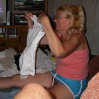 Folding Clothes (Panty Shots)