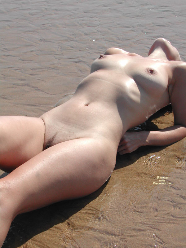 Pic #1 - Nude Wife On A Beach - Landing Strip, Shaved Pussy, Naked Girl, Nude Amateur, Nude Wife , Arching Backwards, Bathed In Sunlight, Showing Off Ber Breasts, Belly And Throat, Arched Back, Beach Lover, Propped On Her Elbows, In The Surf, Laying In Shallow Water, Naked Sunbathing